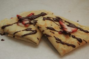 Homemade Nutella and Strawberry Crepes