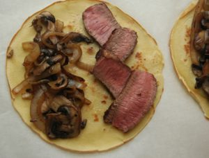 Steak and Mushroom Crepes