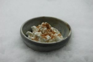 Two Ingredient Snow Ice Cream