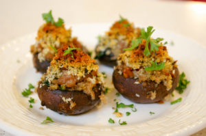 Sausage & Spinach Stuffed Mushrooms