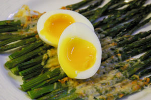 Roasted Asparagus with a Six Minute Egg