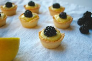 Lemon Blackberry Tartlets - Solar Eclipse