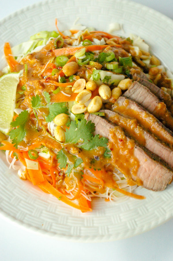 Thai Noodle Salad with Cilantro-Lime Steak