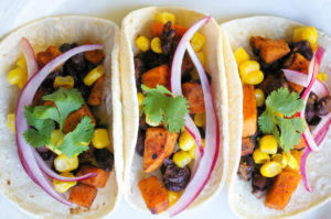 Spicy Sweet Potato Black Bean Tacos