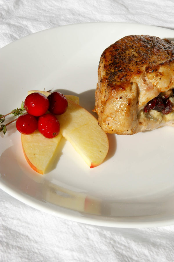 Cranberry Apple Stuffed Pork Chops