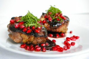 Pomegranate Glazed Lamb Loin Chops