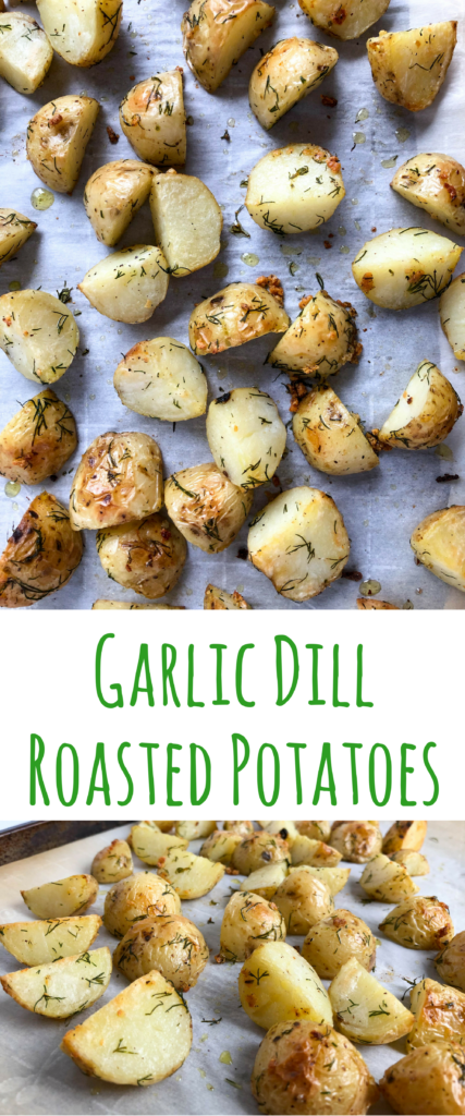 These garlic dill roasted potatoes are foolproof and flavorful. Crispy on the outside and soft on the inside, they make the perfect side dish to any meal.