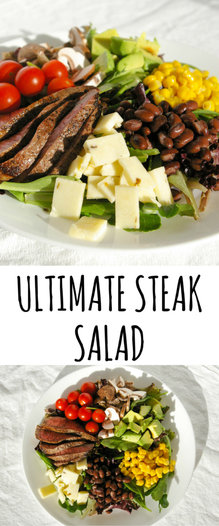 This hearty Ultimate Steak Salad is the perfect lunch or refreshing dinner. Full of vegetables and protein to keep you going throughout the day. Great for meal prep!